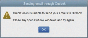 quickbooks outlook error