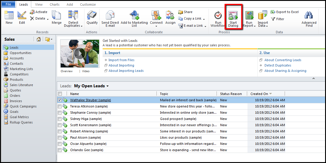 dynamics crm features